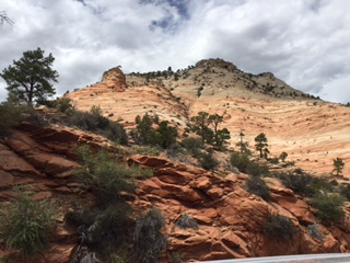 Along the tunnel road headed to Zions East Gate